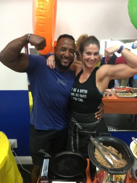Fresno Fit Chef showing off her guns!